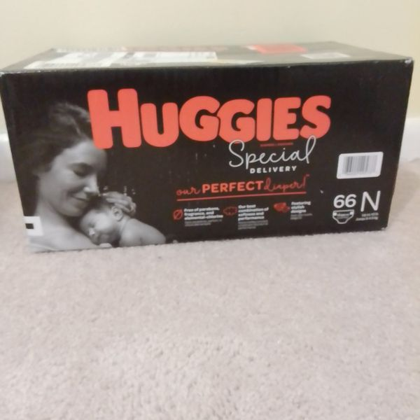 Huggies Special Delivery Hypoallergenic Newborn Up To 10 Ib Diaper. 66 Counts