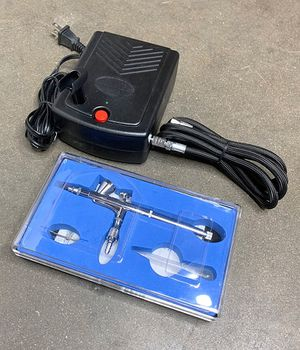 (NEW) $35 Airbrush Kit w/ Air Compressor & Dual-Action Airbrush for Makeup, Tattoo, Cake Decorating for Sale in South El Monte, CA