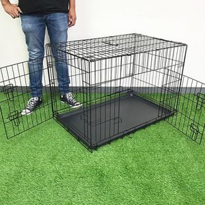 "New $45 Folding 36"" Dog Cage 2-Door Pet Crate Kennel w/ Tray 36""x23""x25"" for Sale in La Mirada, CA"