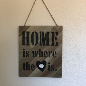 Wood Decorative Wall Hanging Sign for Sale in Hesperia, CA