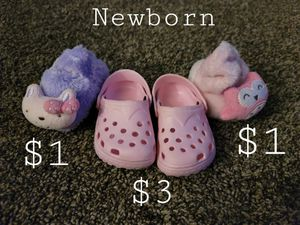 Newborn shoes slippers for Sale in Roseville, MI