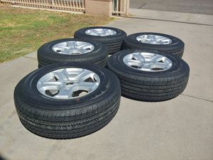 5 new 17s wheels & tires of 2019 jeep wrangler for Sale in Glendale, AZ