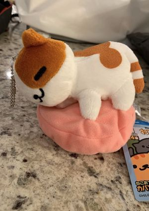 Neko atsume cat plush plushie soft keychain for Sale in Silver Spring, MD