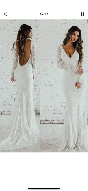 $2200 Brand new Katie May wedding lace gown in XL for Sale in Bloomington, CA