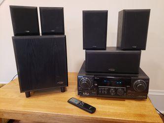 Aiwa / Jensen Receiver Surround Sound Speaker Combo for Sale in Portland,  OR