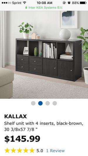 Ikea Kallax 2x4 Cube Shelf With Drawer And Door Inserts for Sale in Richardson, TX