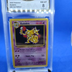 2000 Pokemon KADABRA #46/130 SECOND EDITION GMA 8 NM-MT for Sale in Marysville, WA