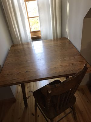 Solid oak kitchen table with 2 chairs for Sale in High Point, NC