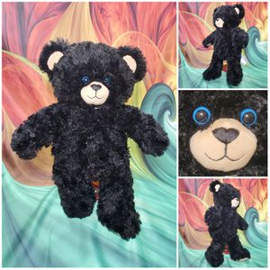 "Build A Bear Dimples Black Tan Blue Eyed Plush Stuffed Teddy 17"" BABW for Sale in Hallettsville, TX"