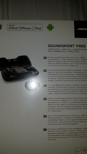 Bose SoundSport Free Wireless Bluetooth Headphones for Sale in Los Angeles, CA