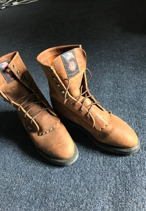 Leather work boots 7W for Sale in Anchorage, AK