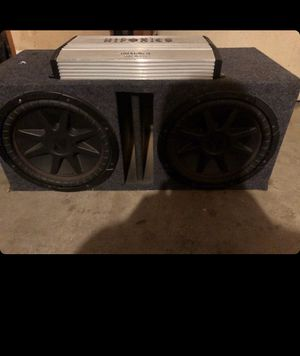 """Subwoofer 12"""" kicker with amp 1500wats for Sale in San Jose, CA"""