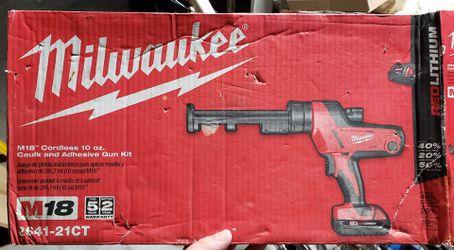Milwaukee M18 Lithium-Ion Cordless 10 oz. Caulk and Adhesive Gun for Sale in Newark,  CA