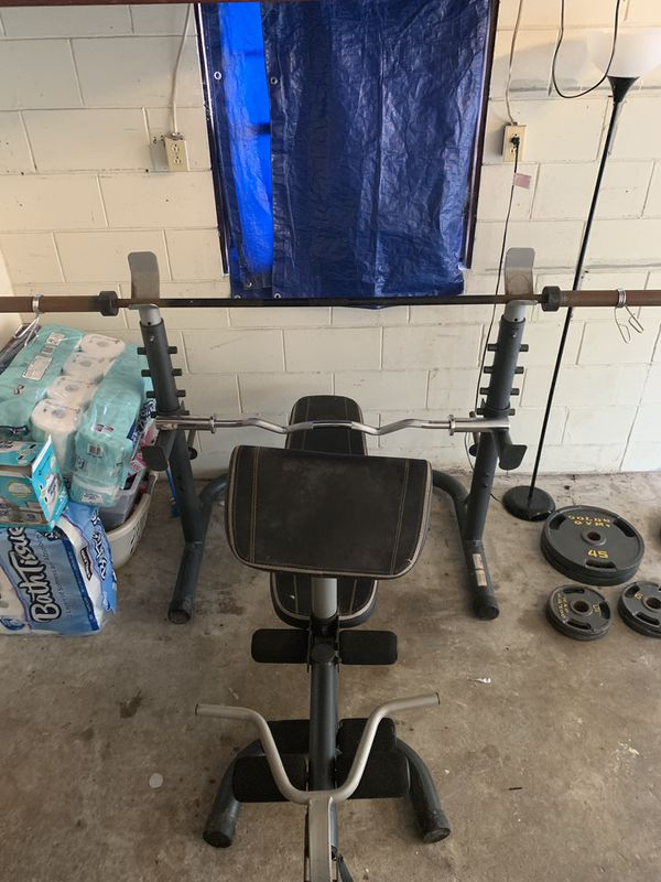 Golds gym adjustable weight bench combo