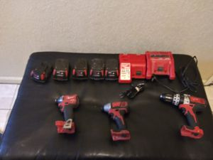 2 impact 1 hammer drill 5 batteries 2 chargers for Sale in Pharr, TX