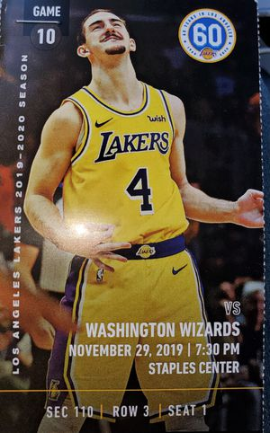 Lakers vs wizards for Sale in Cerritos, CA