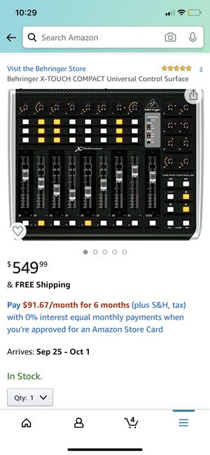 Behringer X-Touch Compact for Sale in Spring Valley, CA