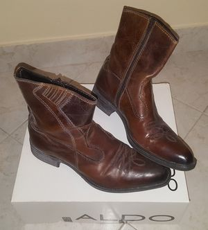ALDO Western Cowboy Motorcycle Leather Boots Sz 10 for Sale in HALNDLE BCH, FL
