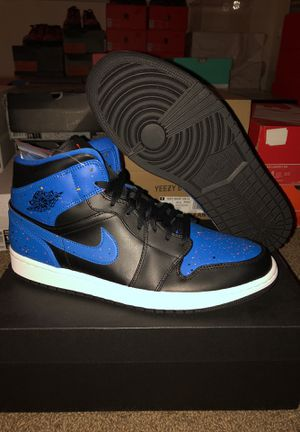 """DS Jordan 1 Mid """"Royal Paint Splatter's"""" Size: 11.5 $100(NO TRADES) for Sale in Pittsburgh, PA"""