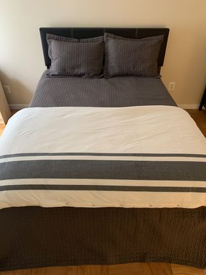 MOVING SALE!!! Queen bed, mattress, frame, box spring, and headboard for Sale in Falls Church, VA