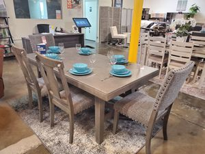 6 Piece Solid Wood Dining Set, Grey for Sale in Westminster, CA
