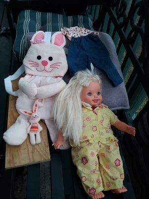 Kelly doll and carrier for Sale in Portland, OR