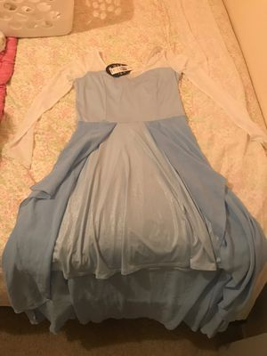 Elsa adult costume! Glittery sweetheart neckline for Sale in Los Angeles, CA