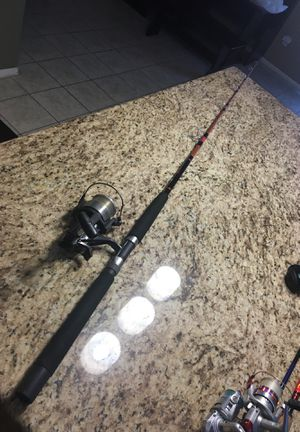 Shimano bait runner Sabre by Penn fishing rod and reel for Sale in Moreno Valley, CA