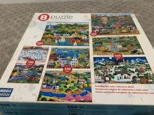 8 puzzle collection 1000 piece, 500 piece, 300 and 100 pieces for Sale in Alexandria, VA