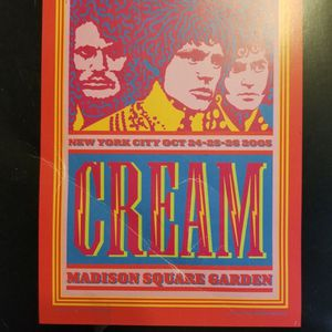 Cream Concert Program for Sale in Melville, NY