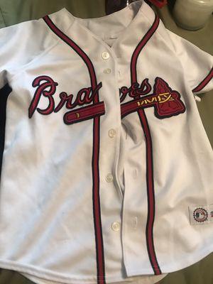 Atlanta braves baseball jersey for Sale in Nashville, TN