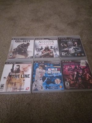 PS3 GAMES ALL 6 FOR $15! PICK UP ONLY! for Sale in Phoenix, AZ