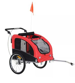 Aosom Elite Pet Dog Bike Trailer Bicycle Trailer Stroller Jogger w/ Suspension for Sale in Los Angeles, CA