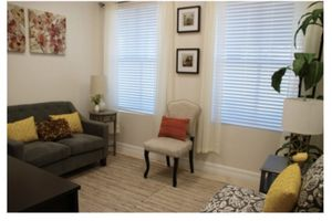 Small grey couch with throw pillows for Sale in Davie, FL