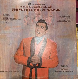 The Greatest Hits of Mario Lanza vinyl for Sale in Sacramento, CA