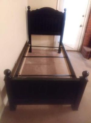 Nice twin bed frame also come with under dresser drawers storage area for Sale in Jonesboro, AR