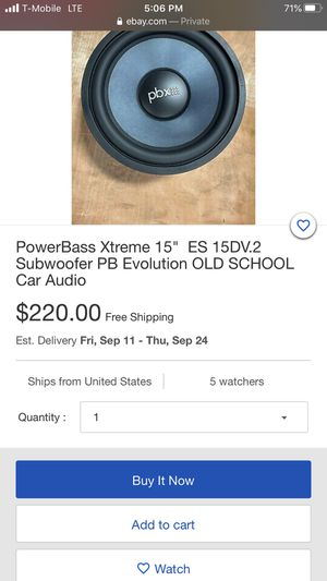 Competition subwoofer with box for Sale in Fullerton, CA