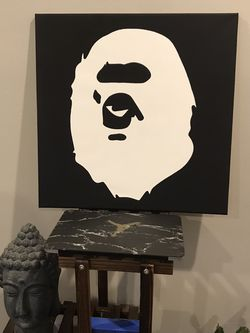 Bathing Ape Acrylic Paint 20 X 20 for Sale in New Brunswick,  NJ