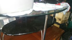 Glass coffe table n 2 end tables matching for Sale in Boones Mill, VA
