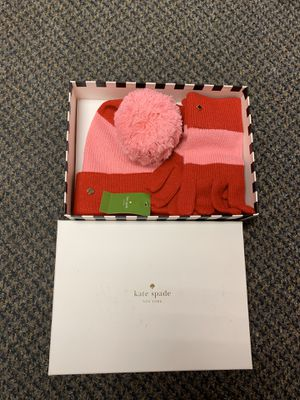 Kate Spade Ladies Women's Winter Knit Hat & Gloves Gift Set *NWT!* MSRP$98 for Sale in Aurora, IL