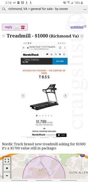 Nordic track treadmill for Sale in Richmond, VA