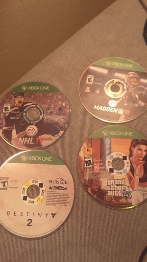 Xbox one games, 3 purchased from Redbox the other bought in store. for Sale in Everett, WA