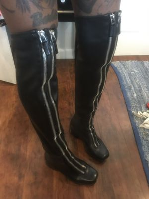 Alexander Wang thigh high leather boots size 7.5 for Sale in Walnut Creek, CA