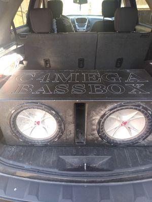 "Kicker CVR 12"" inch Subwoofers In probox with Pioneer amp for Sale in Waco, TX"