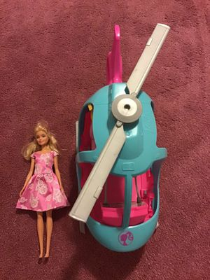 Barbie doll and helicopter for Sale in Fort Myers, FL