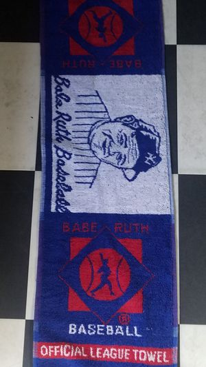 Vintage Babe Ruth baseball towel collectible for Sale in Morton Grove, IL