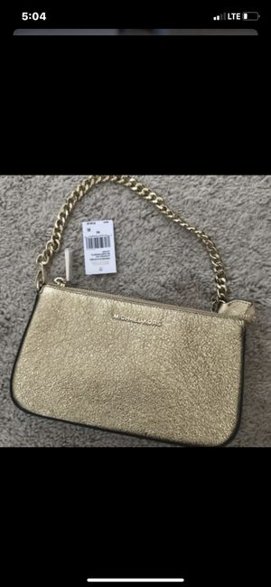 Michael Kors Small Gold Sparkle Clutch for Sale in Fresno, CA