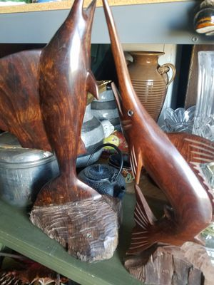Wood carved Marlins for Sale in Wildomar, CA