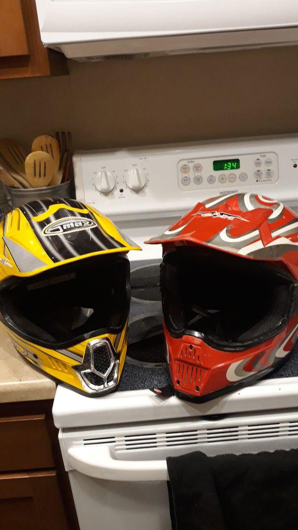 Moto cross helmets