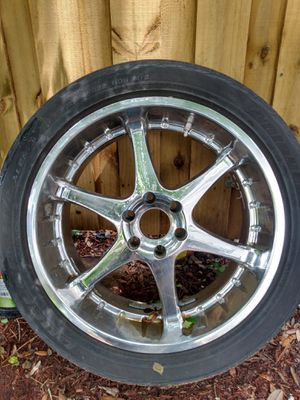 Chrome rims 22incn for 6 lug ford or dodge truck. for Sale in New Smyrna Beach, FL